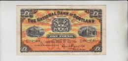 AB538. The National Bank Of Scotland Ltd £1 Banknote 10th May 1956 #B/O 103-454 FREE UK P+P - [ 3] Scotland