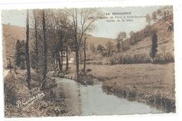 398. Route De FLERS A PONT-ERAMBOURG . VALLEE DE LA VERE . CARTE COLORISEE AFFR LE 17-8-1945 AU VERSO . 2 SCANES - Flers