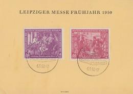 DDR Sonderkarte Mif Minr.248,249 SST Leipzig 6.3.50 - DDR
