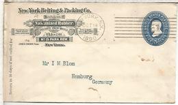 ESTADOS UNIDOS USA ENTERO PÒSTAL 1890 NEW YORK VULCANIZED RUBBER QUIMICA - Química