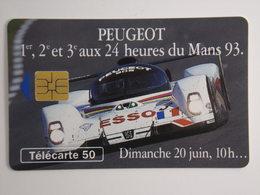 Télécarte - PEUGEOT - 24 Heures Du Mans - 500000 Exemplaires - 1993 - Cars