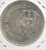 PORTUGAL 1000$ ESCUDOS PLATA/PRATA/ARGENT/SILVER TRATADO DE TORDESILHAS 27G AG RARE - Portugal