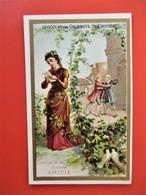 CHROMO Bordure Doré - Café Des Gourmets TREBUCIEN - Langage Des Fleurs Lierre AMITIE  - TBE - Tea & Coffee Manufacturers