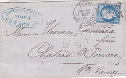 709 -  CERES 60 -  PARIS  A  CHATEAU PONSAC - Postmark Collection (Covers)