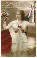 CPA - Carte Postale - Folklore - Cher Drapeau De France - Femme (B8958) - Folklore