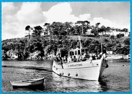 """CPSM 22 ILE De BREHAT - La BREHATINE Dans Le Port Clos ° """"La Bretagne Pittoresque"""" Photo Caoudal 1130 * Bateau - Ile De Bréhat"""
