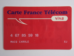 Télécarte - Carte France Télécom VIVA - France