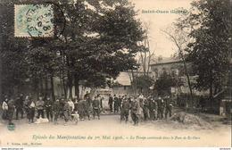 D93  ST OUEN Épisode Des Manifestations Du 1er Mai 1906 La Troupe Cantonnée Dans Le Parc - Saint Ouen