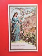 CHROMO Doré - Café Des Gourmets TREBUCIEN - Langage Des Fleurs GUIMAUVE - BIENFAISANCE - - Tea & Coffee Manufacturers