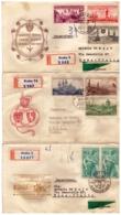 MG217) CECOSLOVACCHIA 1957 Lotto Di 5 FDC Raccomandate Viaggiate E Aeree Towns-Youth Philatelic Exhibition - Tschechoslowakei/CSSR