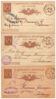 MG218) REGNO ITALIA C.P. Umberto I Lotto Di 9 CP Una Per Ogni Anno Dal 1881 Al 1889 Timbro Commerciale - 1878-00 Umberto I