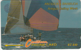 ANTIGUA & BARBUDA(GPT) - Sailing Week 1/3, CN : 7CATC, Tirage 50000, Used - Antigua En Barbuda