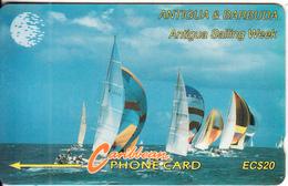 ANTIGUA & BARBUDA - Sailing Week 1/2, CN : 11CATB/D(white Logo), Used - Antigua And Barbuda