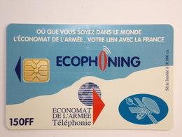 Télécarte - ECONOMAT De L'Armée - ECOPHONING - Couleur Bleu Ciel - Army