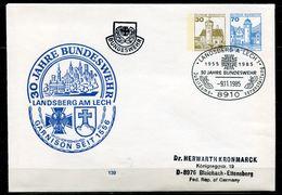 """Germany 1985 Privatganzsache Bundeswehr Mi.Nr.PU?? Mit.SST""""Landsberg-30 Jahre Bundeswehr,Jubi """"1Beleg - Militaria"""
