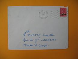 Lettre De La Réunion CFA  1974  N° 393  Marianne De Béquet De Tampon Pour Saint Joseph - Reunion Island (1852-1975)