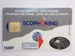 Télécarte - ECONOMAT De L'Armée - ECOPHONING - Couleur Gris - Army
