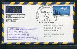 Griechenland / 1966 / Lufthansa-Erstflugbrief Athen-Dar Es Salaam (18118) - Posta Aerea