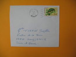 Lettre De La Réunion CFA  1974  N° 399 Caméléon Protection De La Nature De Tampon Pour La France - Reunion Island (1852-1975)