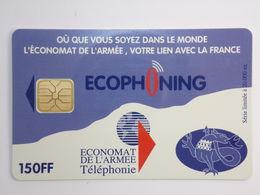 Télécarte - ECONOMAT De L'Armée - ECOPHONING - Couleur Mauve - Army