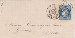718 -  CERES 60 -   LYON  A  GANNAT - Postmark Collection (Covers)