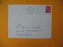 Lettre De La Réunion CFA  1974  N° 393  Marianne De Béquet Le Tampon Pour Saint Joseph - Reunion Island (1852-1975)