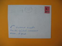 Lettre De La Réunion CFA  1974  N° 393  Marianne De Béquet De Saint Joseph Pour Saint Joseph - Reunion Island (1852-1975)