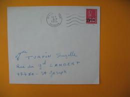 Lettre De La Réunion CFA  1974  N° 393  Marianne De Béquet Le Tampon Pour La France - Reunion Island (1852-1975)