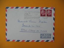 Lettre De La Réunion CFA  1975  N° 385 Marianne De Cheffer  De Saint Denis Pour La France - Reunion Island (1852-1975)