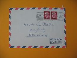 Lettre De La Réunion CFA  1974  N° 385 Marianne De Cheffer  De Saint Denis Pour La France - Réunion (1852-1975)