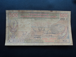 CÔTE D'IVOIRE : 500 FRANCS   1980   P 105Ab    TB - Costa D'Avorio