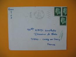 Lettre De La Réunion CFA  1975  N° 384 Marianne De Cheffer  De Saint Louis Pour La France - Reunion Island (1852-1975)
