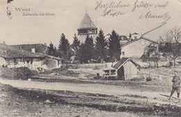 Woel ,Dorfstrasse Mit Kirche ,la Rue Du Village Et L'église ,1915 , 2 Scans - Francia