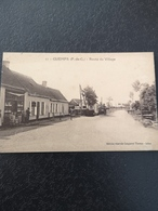 A1 Guemps Route Du Village Animée Café Voiture - France