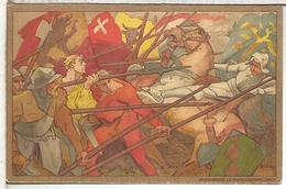 SUIZA ENTERO POSTAL 1911 FIESTA NACIONAL BATALLA BATLE SOLDADO MILITAR CABALLO HORSE - Militares
