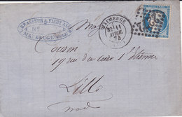 723 -  CERES 60 -  MAUBEUGE  A  LILLE - Postmark Collection (Covers)