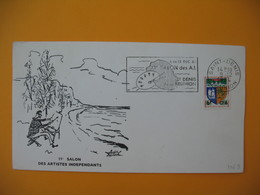 Lettre De La Réunion CFA  1964  N° 346B Saint Denis De La Réunion - 11 ème Salon Des Artistes Indépendants - Reunion Island (1852-1975)