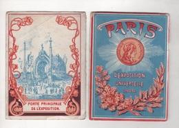 DEPLIANT EXPOSITION UNIVERSELLE DE PARIS 1900 - 39 VUES - 12.2 X 9.2 Cm - PAS DE NOM D'EDITEUR - Tourism Brochures