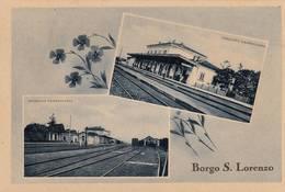 Cartolina Borgo San Lorenzo (Firenze) - Stazione Ferroviaria - Firenze (Florence)