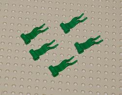 Légo 5x Drapeau Vert 4 X 1 à Vague à Gauche Ref 4495a - Lego Technic