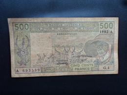 CÔTE D'IVOIRE : 500 FRANCS   1982   P 106Ad    TTB - Côte D'Ivoire