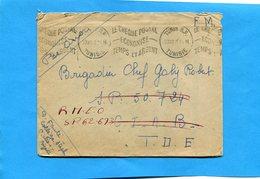Marcophilie-guerre D'indochine-lettreF M-de Tunis 1946 Pour SP 50724-Réexpédiée SP 62673 --TO E - Marcophilie (Lettres)
