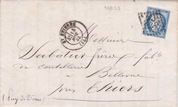 726 -  CERES 60 - ST ETIENNE  A  THIERS - Postmark Collection (Covers)