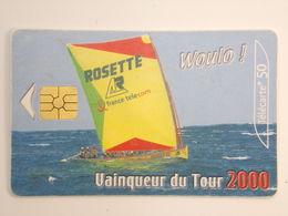 Télécarte - Vainqueur Du Prestige Du 16ème Tour De La Martinique Des Yoles Rondes - 200000 Ex - Année 2000 - Pub Rosette - Boats