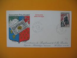 Lettre De La Réunion CFA  1965  N° 365 Tricentenaire Du Peuplement De L'Ile Bourbon Saint Louis - Reunion Island (1852-1975)