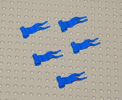 Légo 5x Drapeau Bleu 4 X 1 à Vague à Gauche Ref 4495a - Lego Technic