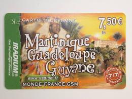 Télécarte - IRADIUM - Martinique-Guadeloupe-Guyane -  Année 2006 - Guyana