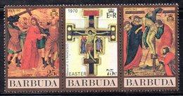 APR1344 - BARBUDA 1970 , La Serie Integra Yvert 79/81 ***  MNH  (2380A)  PASQUA - Pasqua