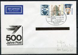 "Germany,Berlin 1990 Privatganzsache 500 Jahre Post Mi.Nr.PU145 Mit SST""Berlin 12-500 Jahre Post,Tag Der O.Tür""1 Beleg - Post"
