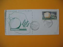 FDC Réunion CFA  1963  N° 355 Pleumeur-Bodou Télécommunication Spaciales - Reunion Island (1852-1975)